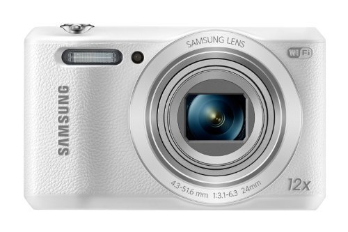 Samsung WB35F 16.2MP Samsung SMART Camera (White)-(Certified Refurbished)