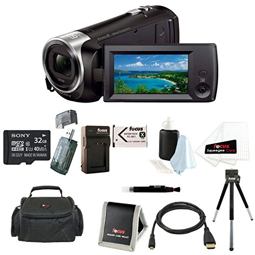 Sony HD Video Recording HDRCX405 HDR-CX405/B Handycam Camcorder (Black) + Sony 32GB microSDHC/SDXC High speed Memory Card + Camera Bag + Replacement NP-BX1 Battery and Charger + Accessory Bundle