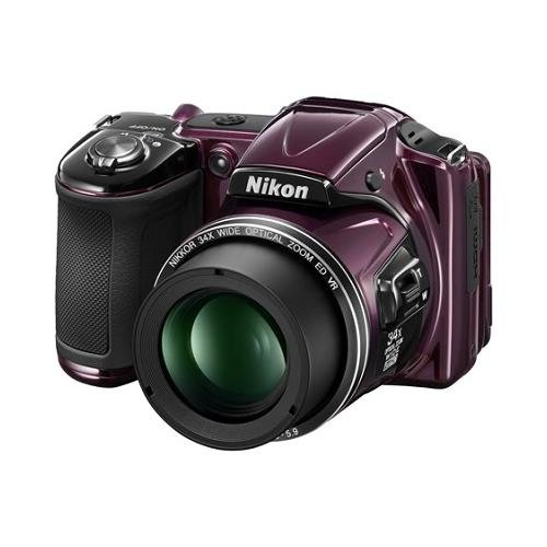 Nikon Coolpix L830 Digital Camera (Plum) - Certified Refurbished