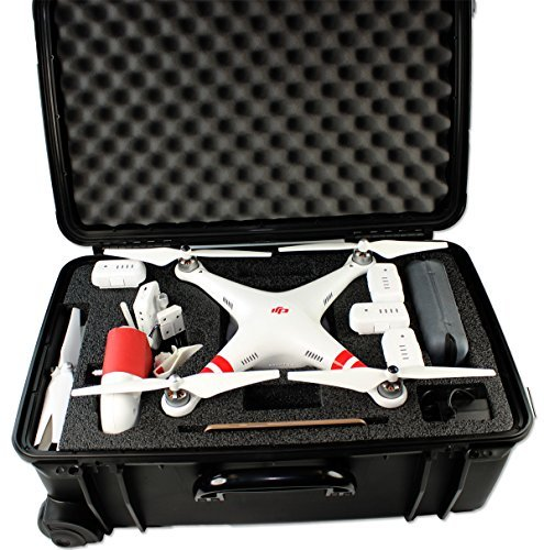 ProCraft DJI Phantom 2 Vision Vision+ Puls Professional Pro Carrying Rolling Travel Quadcopter Drone Case with wheels