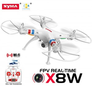 Cheerwing® Syma X8W FPV Real-time 2.4Ghz 4ch 6 Axis Gyro Headless Large RC Quadcopter Drone with HD Camera RTF (White) - Ship From USA