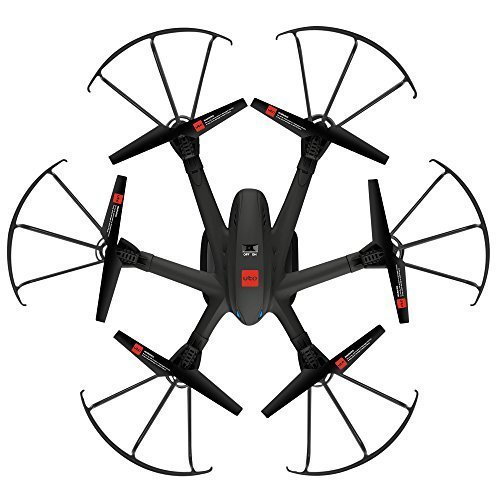 UTO Drone U960 Hexacopter with Camera Live Video Hd Camera Wifi FPV RTF Headless Mode One Key Return 3d Rolls Launched on Hand Toys 2.4ghz 4 Ch 6 Axis Gyro Helicopter Quadcopter Quad Copter with Camera Black