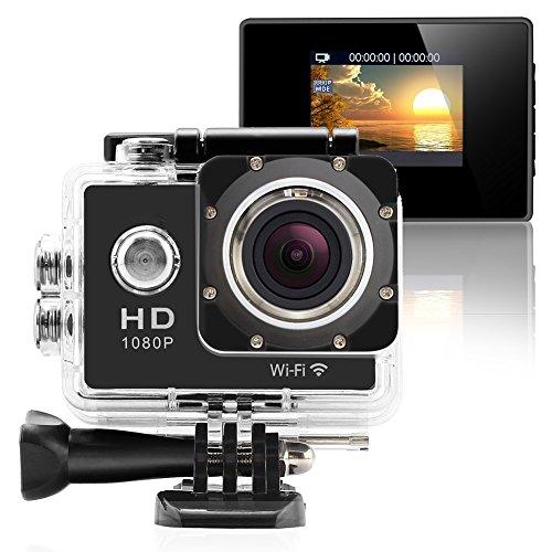 GeekPro Pro 1 Wifi 12MP Full HD 1080P Sports Camera Waterproof Action DV 170° Wide Helmet Camcorder DVR Sport Camera Action Camera DV Car Dash Camcorder