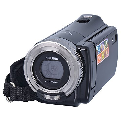 Besteker® HDMI 720p 3.0 TFT LCD Rotation Digital Video Camcorder 16X Zoom Camera DV Video Recorder Max.24 Mega Pixels + Safety Tether