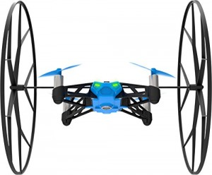 Parrot MiniDrone Rolling Spider Blue - Connected toy - Fly and roll anywhere - FreeFlight 3 App iOS, Android & Windows Phone - Bluetooth 4.0