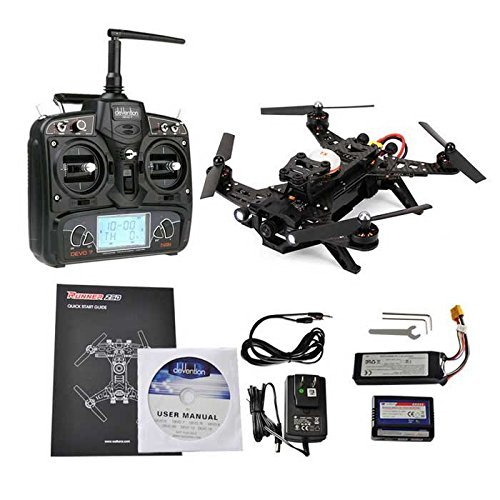 Walkera Runner 250 Racing Drone RTF with Devo 7 -FPV Camera -Video Transmitter - OSD -Rotorlogic Working Pad