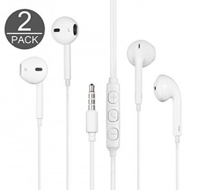 Thunder Emperor 2X 3.5MM Premium Earphone w/ Mic, Remote and Carrying Case for Smart phones, Android, Tablet and other compatible devices (White)